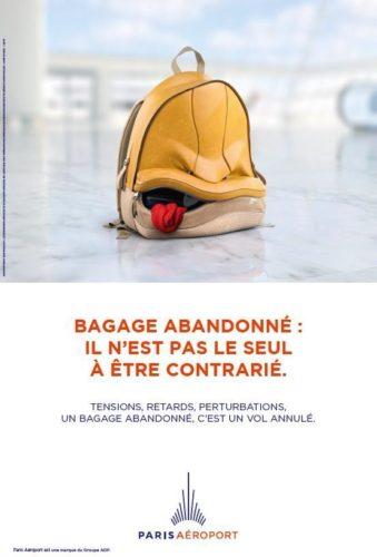 Paris Aéroport lance une grande campagne de sensibilisation contre les bagages abandonnés
