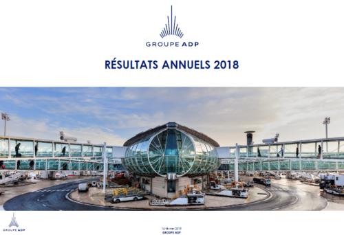 Résultats annuels 2018<br /> Avec 281,4 millions de passagers (+7,6 %), le Groupe ADP devient, en 2018, numéro 1 mondial de la gestion aéroportuaire