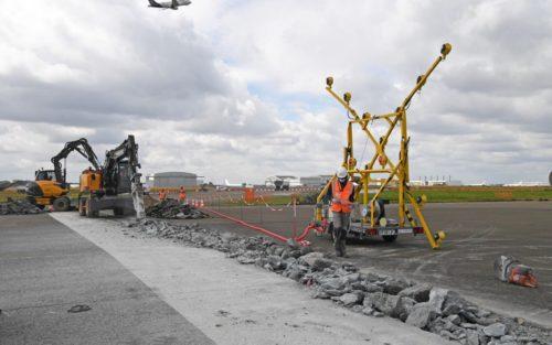 Groupe ADP refurbish one of the four runwaysat Paris-Charles de Gaulle Airport