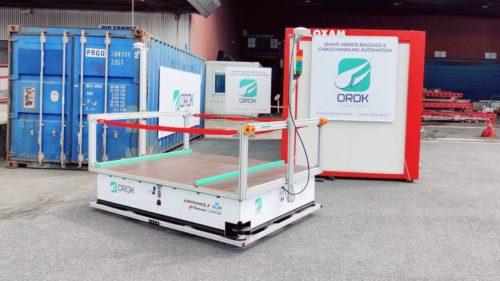 Le Groupe ADP et Air France KLM Martinair Cargo testentles véhicules électriques autonomes d'OROK pour le transport de fretà l'aéroport Paris-Charles de Gaulle